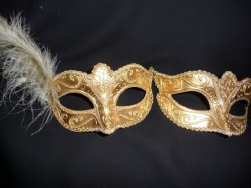 His & Hers Gold petite Masks (a)
